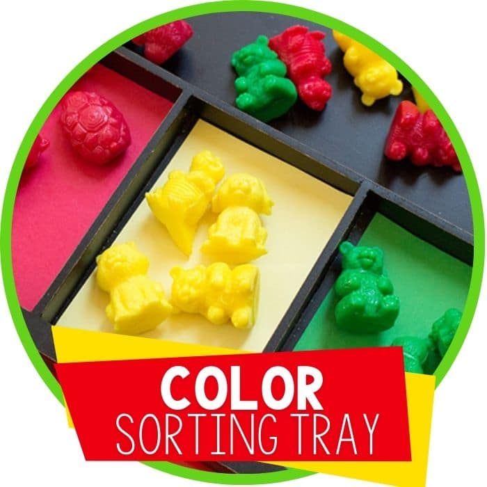 color animal sorting tray featured image