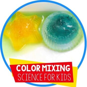 color mixing ice science experiment featured image