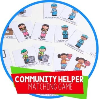 community helper matching game featured image
