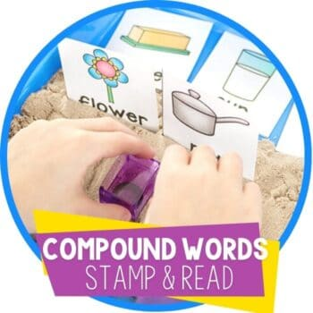 compound words stamping in kinetic sand featured image