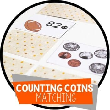 counting coins matching game featured image