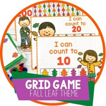 free printable counting grid game fall leaf theme featured image