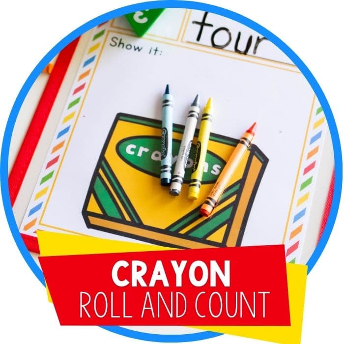 Free Printable Crayon Box Roll and Count