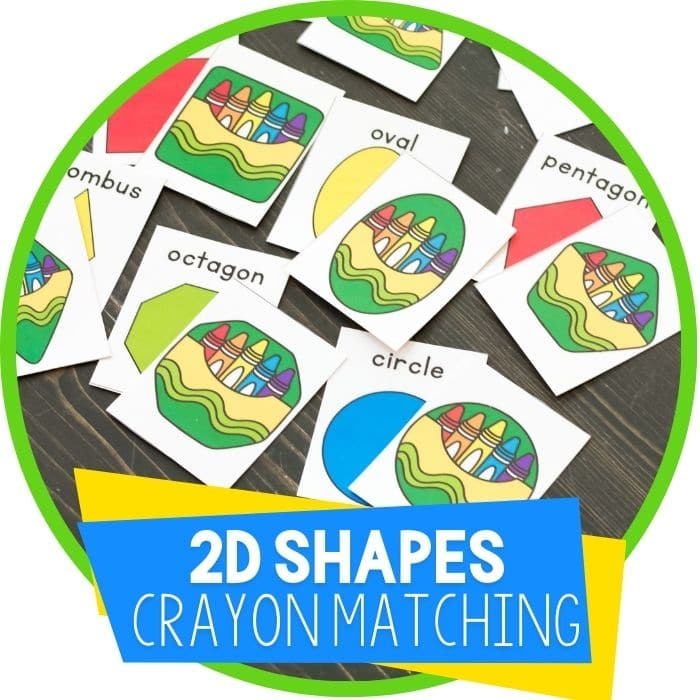 Free Printable Crayon Shape Matching Game