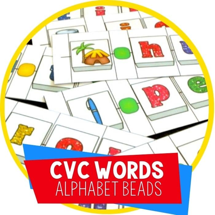 "FREE CVC Word Building Alphabet ""Beads"" Activity"