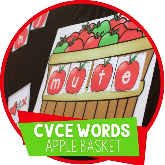 cvce words apple basket cvce word building activity for kindergarten