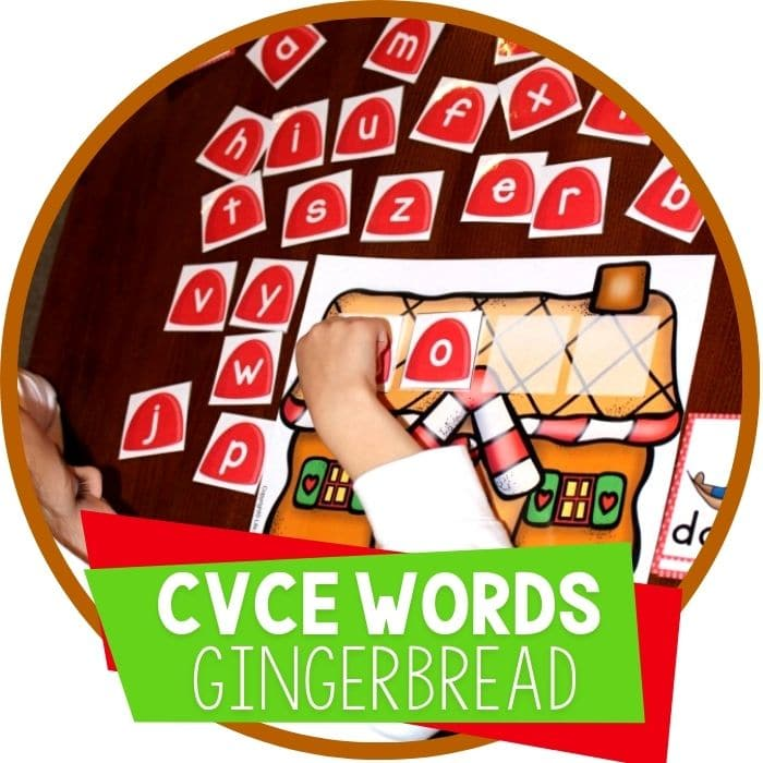 Gingerbread Free Word Work Printable for CVCE Words
