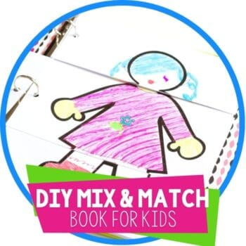 diy mix and match book template for kids featured image