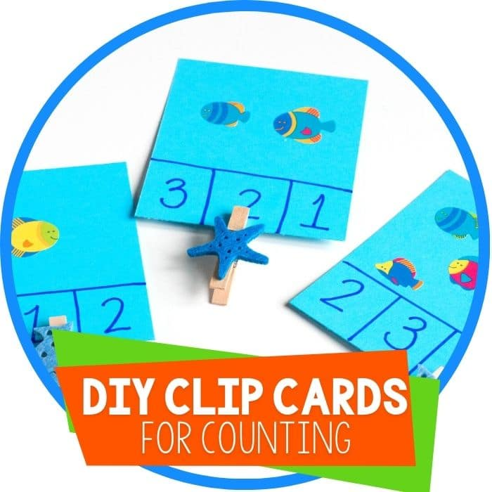 DIY Ocean Clip Cards for Counting