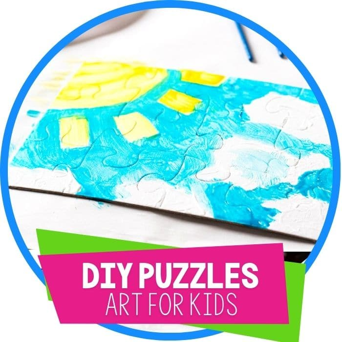 diy puzzles art for kids featured image