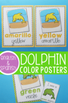 Dolphin Color Posters for Preschool