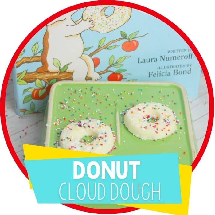 Donut cloud dough inspired by book
