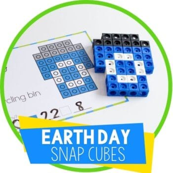 earth day free printable snap cube templates Featured Image