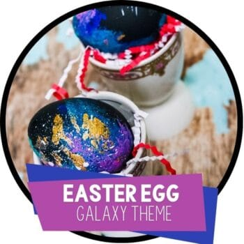 Galaxy Easter Egg Decorating for Kids featured square image