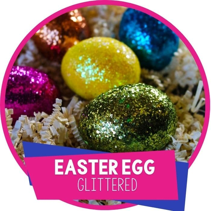 Easy DIY Glitter Easter Eggs