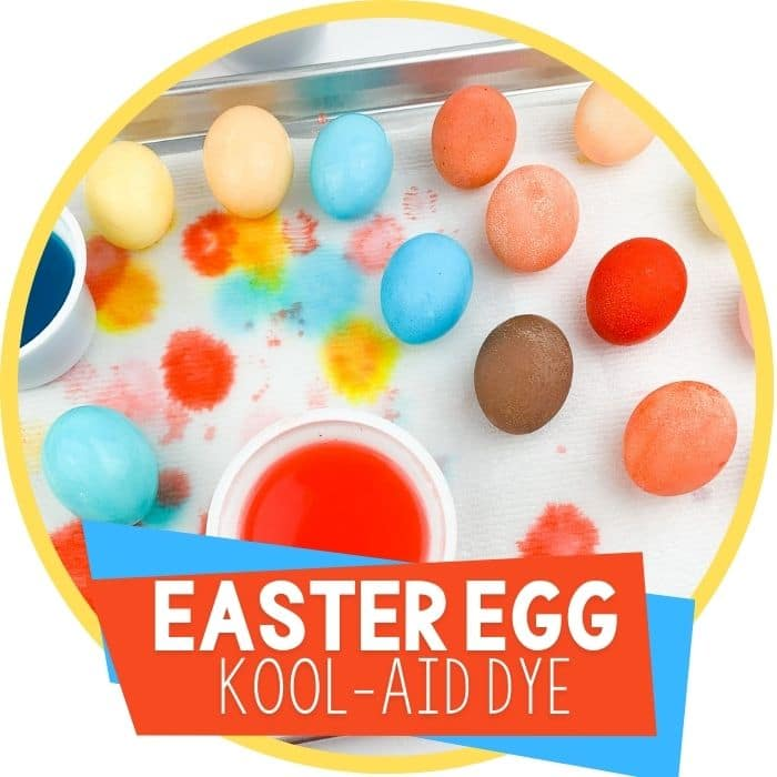 Dyeing Easter Eggs with Kool Aid