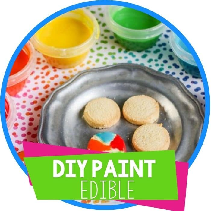 Kid's DIY Edible Paint for Cookies