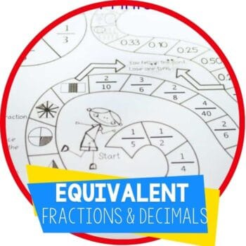 equivalent fractions and decimals featured image