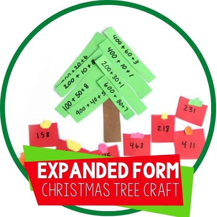 Expanded Form Math Christmas Activity