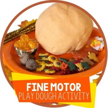 fall fine motor play dough activity featured image