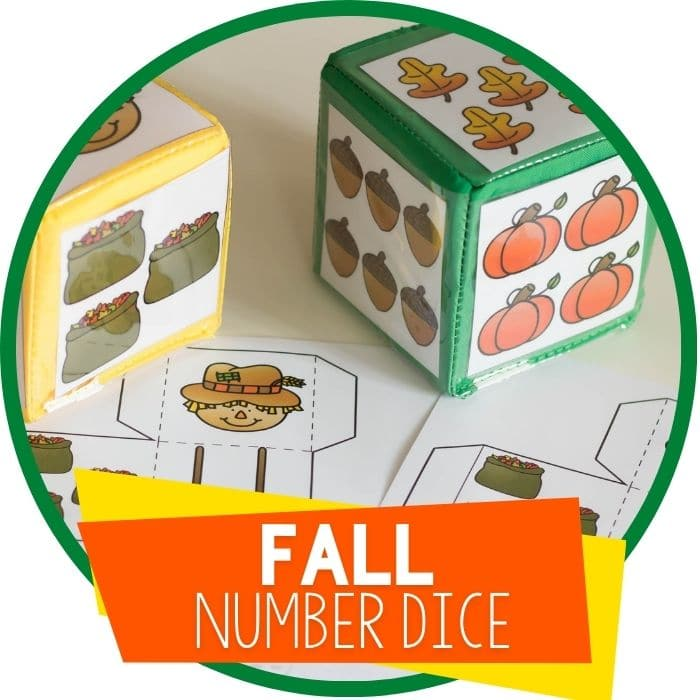 Free Printable Fall Number Dice