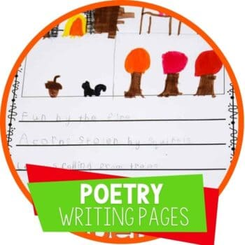 free printable poetry writing pages for fall theme kindergarten and elementary poetry writing for fall