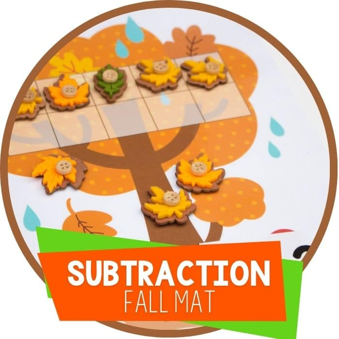 fall theme subtraction mat featured image