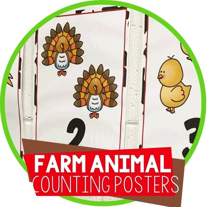 farm theme preschool counting posters for numbers 1-10 Featured Image