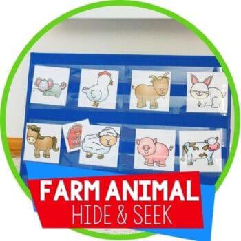 farm animal hide and seek pocket chart game for preschool animal identification for farm theme Featured Image
