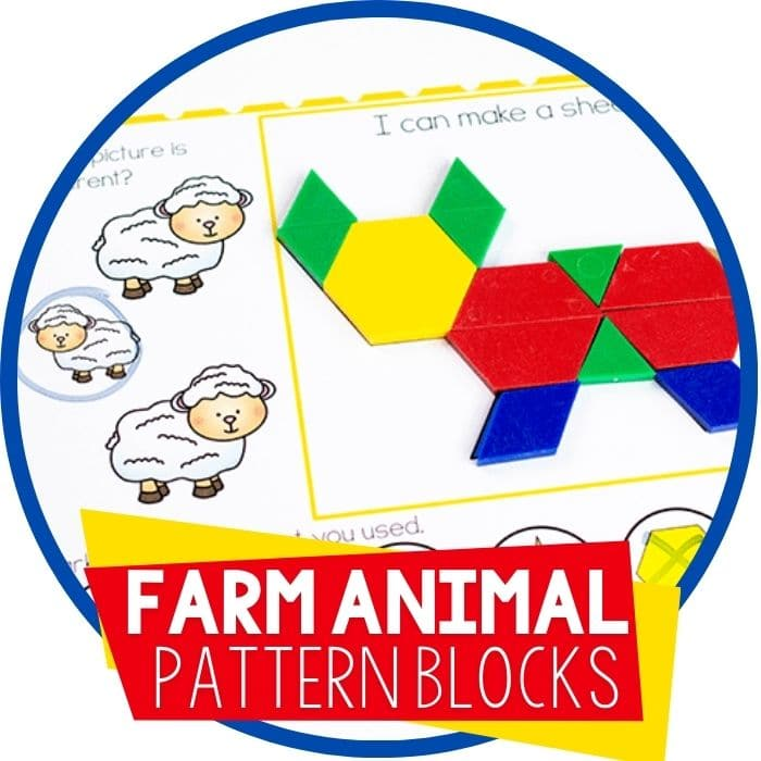 Free Printable Farm Animal Pattern Block Mats