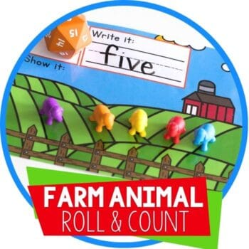 farm animal roll and count featured image