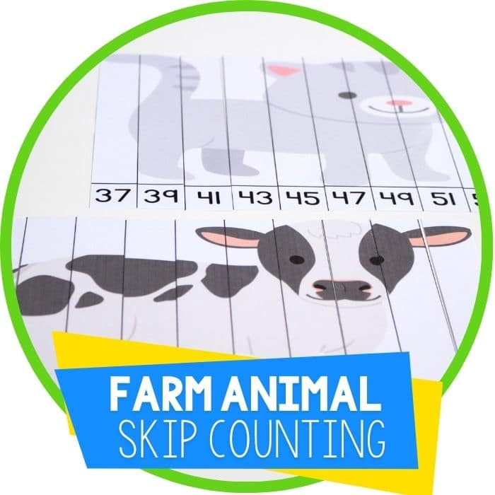 Farm Odd Numbers Skip Counting Puzzles