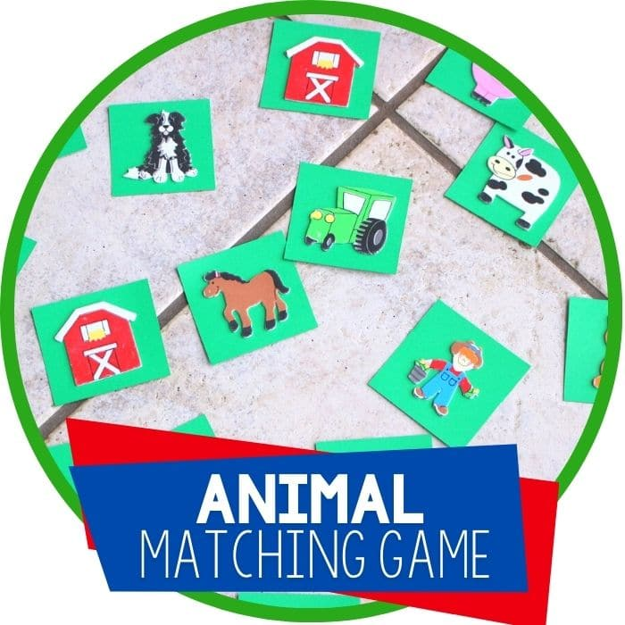 DIY Animal Matching Game for Preschoolers
