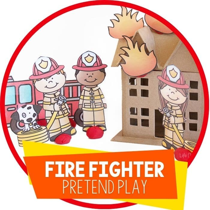 Free Printable Firefighter Play Dough Set