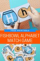 Fishbowl Matching Game Printable for Preschool