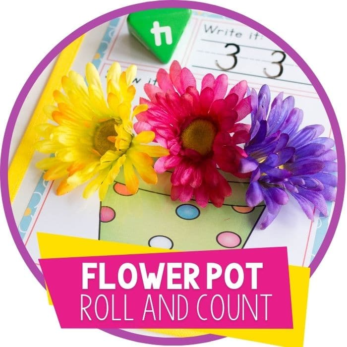 Spring Roll and Count Math Game: Flower Pot
