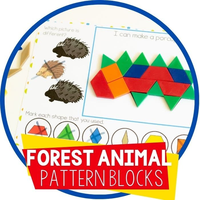 Forest Animal Pattern Block Activity for Preschool