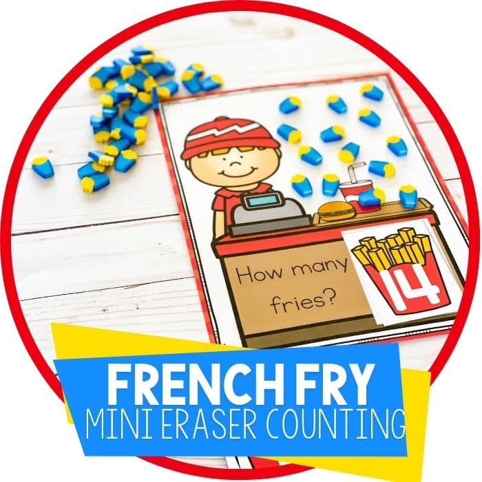 Preschool Restaurant Theme Printable Counting Mats