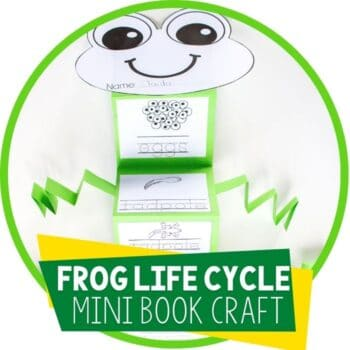 frog life cycle mini book craftivity featured image