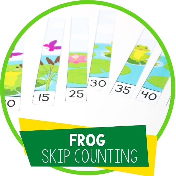 frog skip counting puzzles featured image