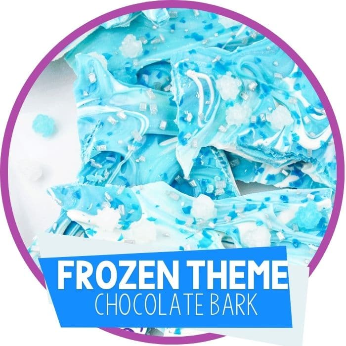 Frozen Themed Chocolate Bark
