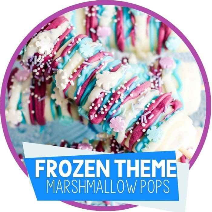 Frozen Themed Snacks for Preschoolers: Marshmallow Pops