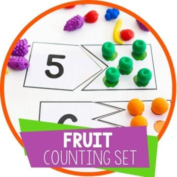 fruit theme counting set with puzzles and clip cards Featured Image