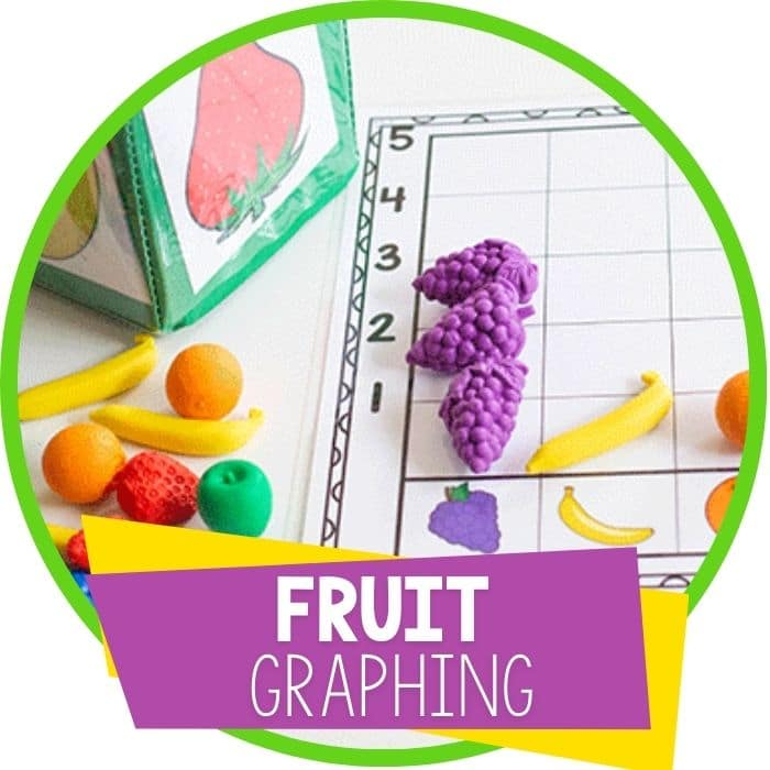 free printable fruit theme graphing activity for preschool Featured Image