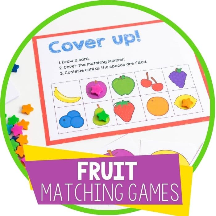 3 Free Printable Fruit Matching Games