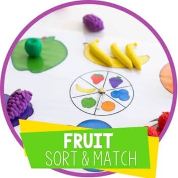 free printable sorting and matching games for preschool fruit and food theme lesson plans Featured Image