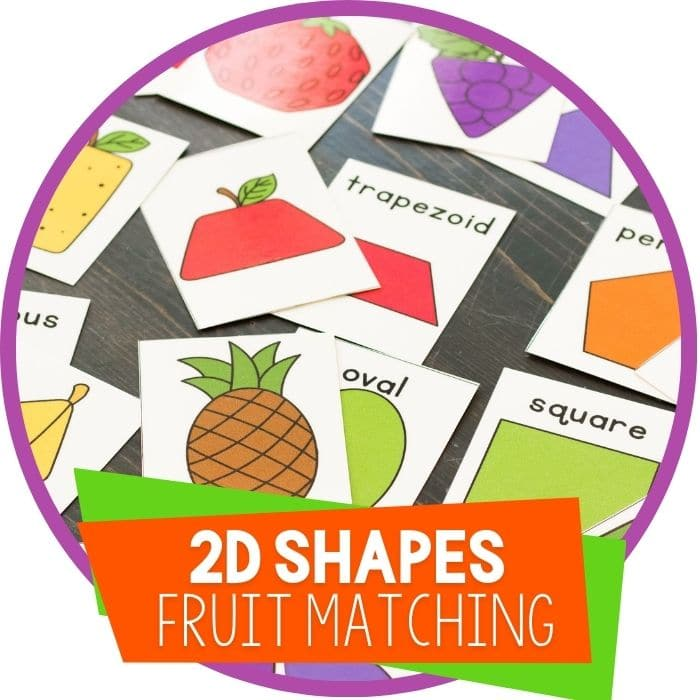 Practice Shapes With This Fruit Themed Shape Matching Game