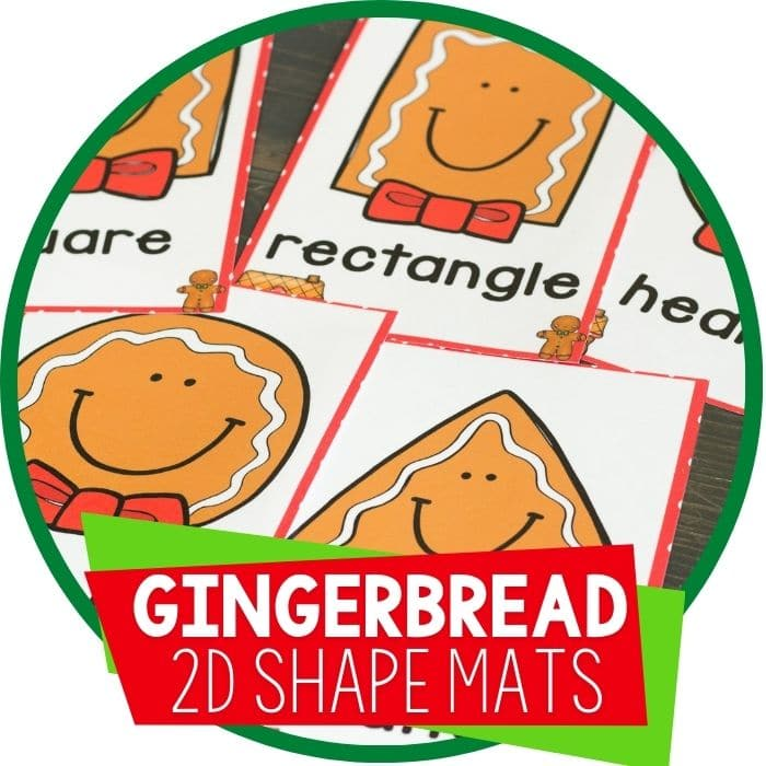 Gingerbread Shape Play Dough Mats