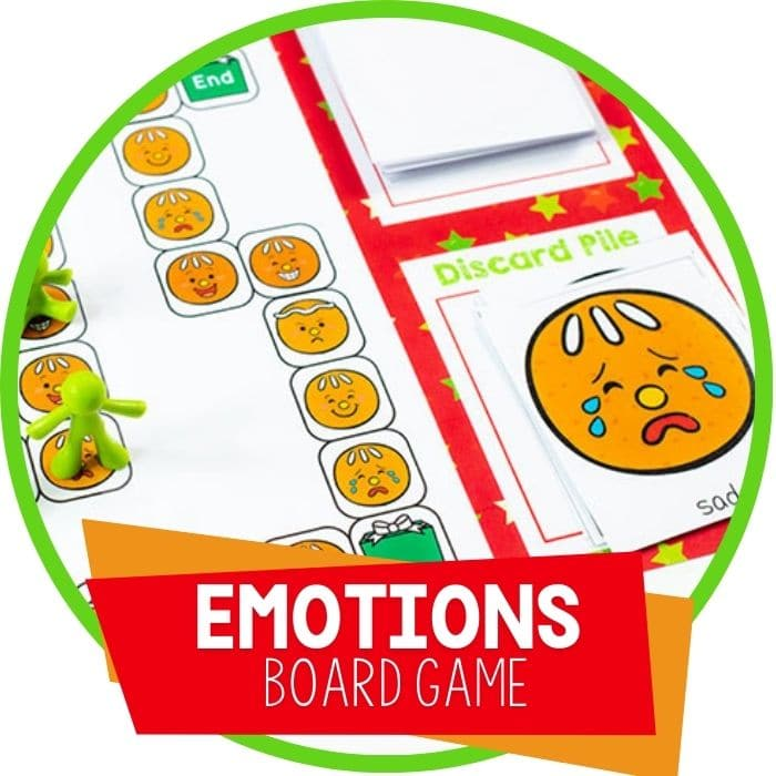 Printable Gingerbread Emotions Board Game