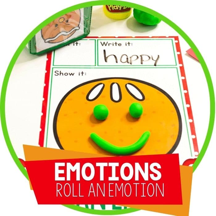 Gingerbread Emotions Roll & Create Activity